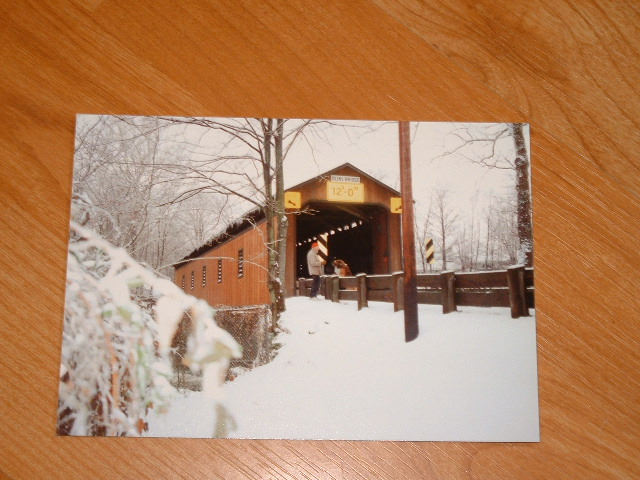 Olin's Covered Bridge, Winter